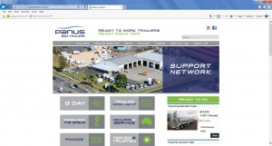 Panus Semi-Trailers - Website Home Page